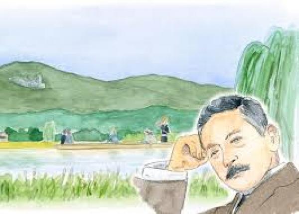 生誕150年の2017年に向け、夏目漱石先生の代表作「草枕」で絵本を作ります