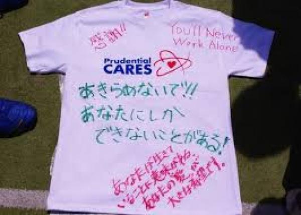 被災地へ笑顔と勇気を!想いを込めたメッセージ入りTシャツを作って届けたい