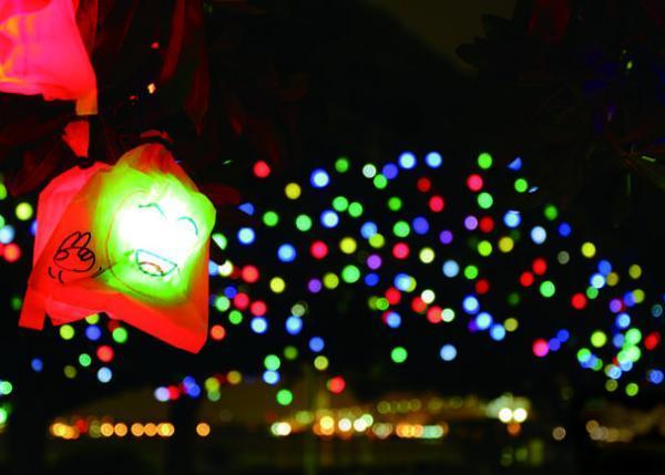 250人の子どもが創るイルミネーション「ひかりの実」で、横浜の夜を優しく彩りたい!、
